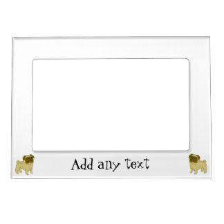 Pug Dog Just Add Text Photo Frame Magnet