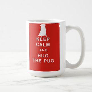 PUG DOG KEEP CALM HUG THE PUG MUG BIRTHDAY