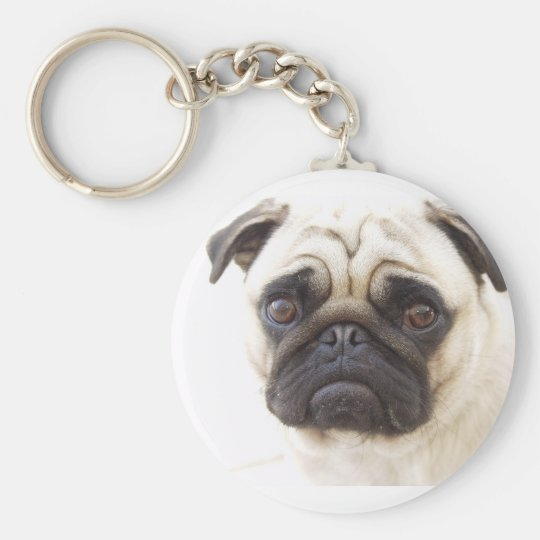 Pug Dog Keychain
