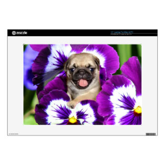 Pug dog laptop skin