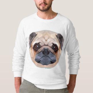 Pug Dog, Men's American Apparel Raglan Sweatshirt