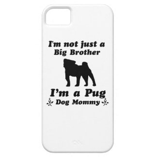 Pug Dog Mommy Design iPhone 5/5S Cases