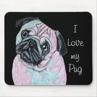 Pug dog mouse pad