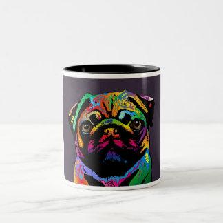 Pug Dog Two-Tone Coffee Mug