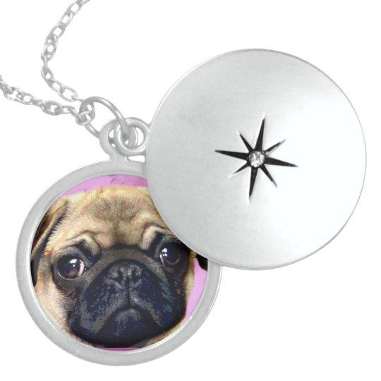 Pug dog necklace