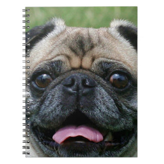 Pug Dog Spiral Note Book