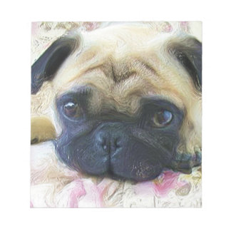 Pug dog notepad