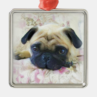 Pug dog ornament