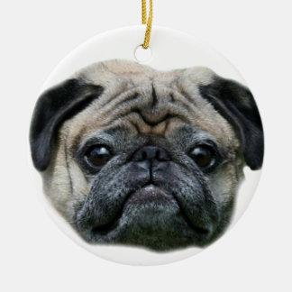 Pug dog ornamnet ceramic ornament