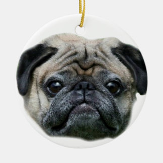 Pug dog ornamnet christmas ornaments