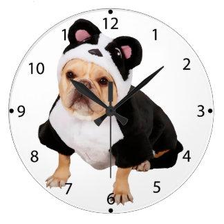 Pug dog - Pandog - funny dog Large Clock