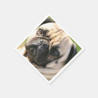 Pug Dog Paper Napkins