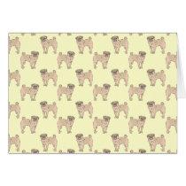 Pug Dog pattern boy Card