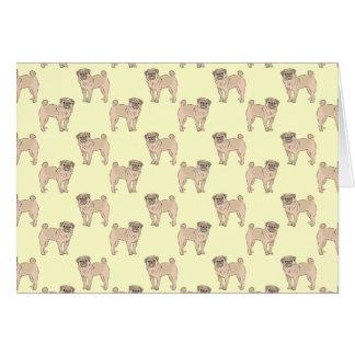 Pug Dog pattern boy Greeting Card