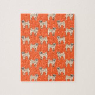 Pug Dog pattern boy Jigsaw Puzzle