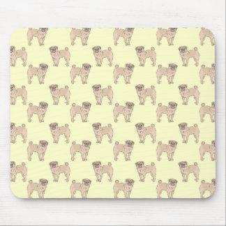 Pug Dog pattern boy Mouse Pad