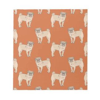 Pug Dog pattern boy Memo Note Pad