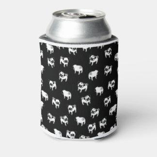 Pug dog pattern can cooler