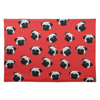 Pug dog pattern cloth placemat