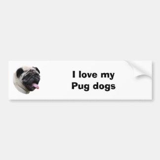 Pug dog pet photo portrait bumper sticker