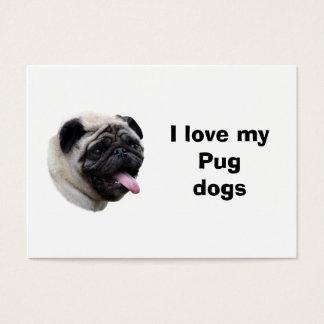 Pug dog pet photo portrait business card