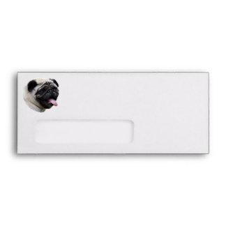 Pug dog pet photo portrait envelope