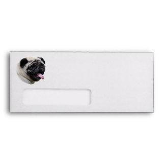 Pug dog pet photo portrait envelopes