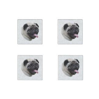 Pug dog pet photo portrait stone magnet