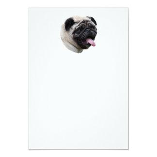 Pug dog pet photo portrait 3.5x5 paper invitation card