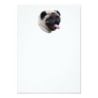 Pug dog pet photo portrait 5x7 paper invitation card