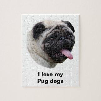 Pug dog pet photo portrait jigsaw puzzle
