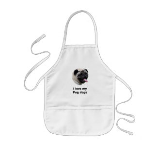 Pug dog pet photo portrait kids' apron