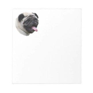 Pug dog pet photo portrait memo notepads