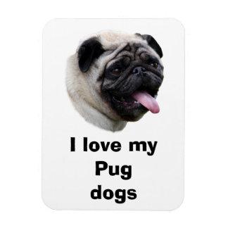 Pug dog pet photo portrait magnet