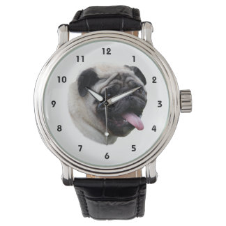 Pug dog pet photo portrait wristwatches