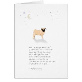 Pug Dog Pet Sympathy-Male-Insert Pet Name Card