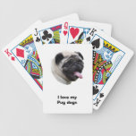 Pug dog photo portrait card decks