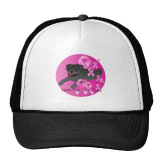 Pug Dog Pink Ribbon Trucker Hat