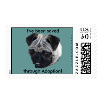 Pug Dog Postage Stamps