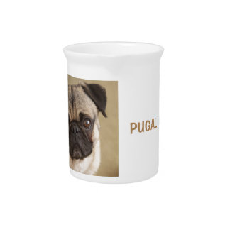 PUG DOG PUP DRINK PITCHER