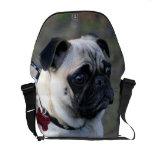 Pug dog Rickshaw messenger bag