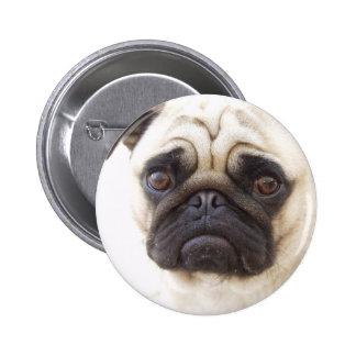 Pug Dog Round Button