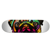 Pug Dog Skateboard Deck