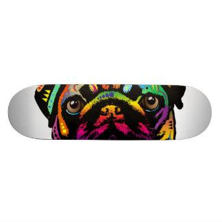 Pug Dog Skateboard Deck