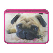 Pug dog sleeve for MacBook air