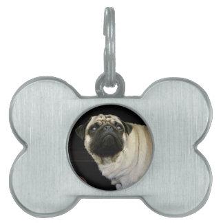 Pug Dog & Spilled Mug Pet-lovers Dog Tag Pet ID Tags