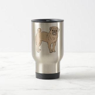 PUG dog standing alone cute! 15 Oz Stainless Steel Travel Mug