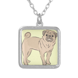 PUG dog standing alone cute! Pendant