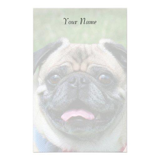 Pug dog stationary stationery