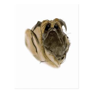 PUG DOG, tony fernandes Postcard